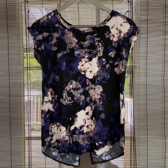 Wilfred pink & purple floral open back top Size XS